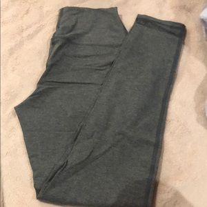 Pants - GREY HIGH- WAISTED LEGGINGS